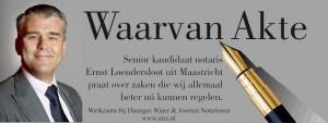 De banner van Waarvan Akte bij Uitvaartomroep